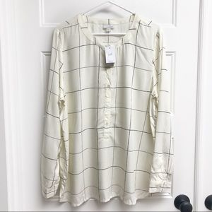 J. Jill Windowpane Popover Tunic
